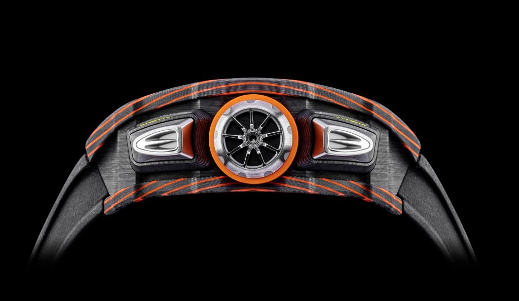 Richard Mille RM 11-03 McLaren Flyback Chronograph case side.