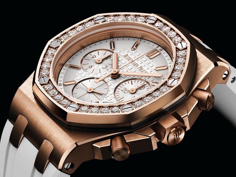 Serena Williams wears an Audemars Piguet Royal Oak Offshore watch