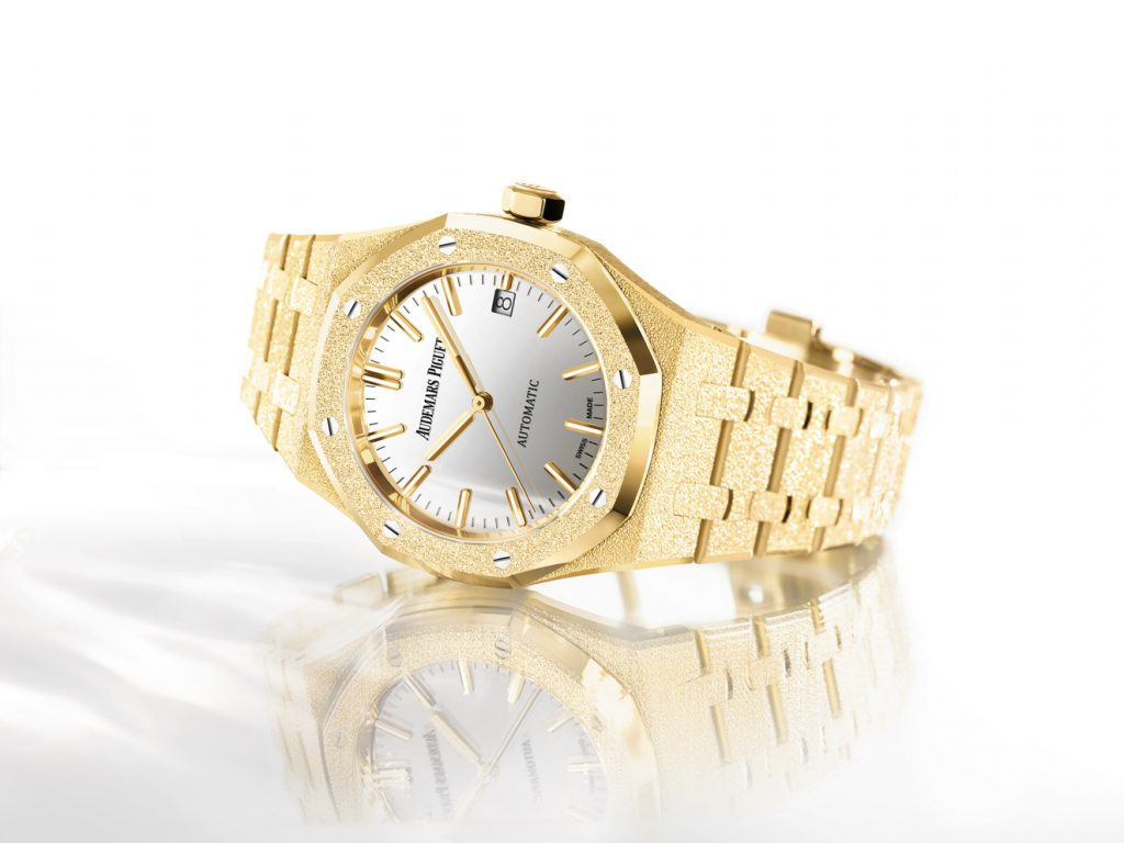Audemars Piguet Royal Oak Frosted Gold Carolina Bucci Limited Edition, $53,600.