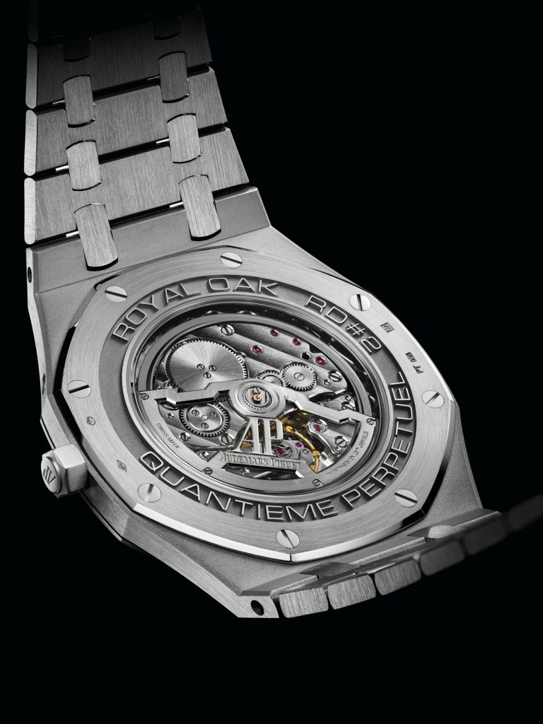 Audemars Piguet Royal Oak RD #2 Perpetual Calendar Ultra Thin Concept Watch measures just 6.3mm when cased and is the world's thinnest self-winding perpetual calendar.
