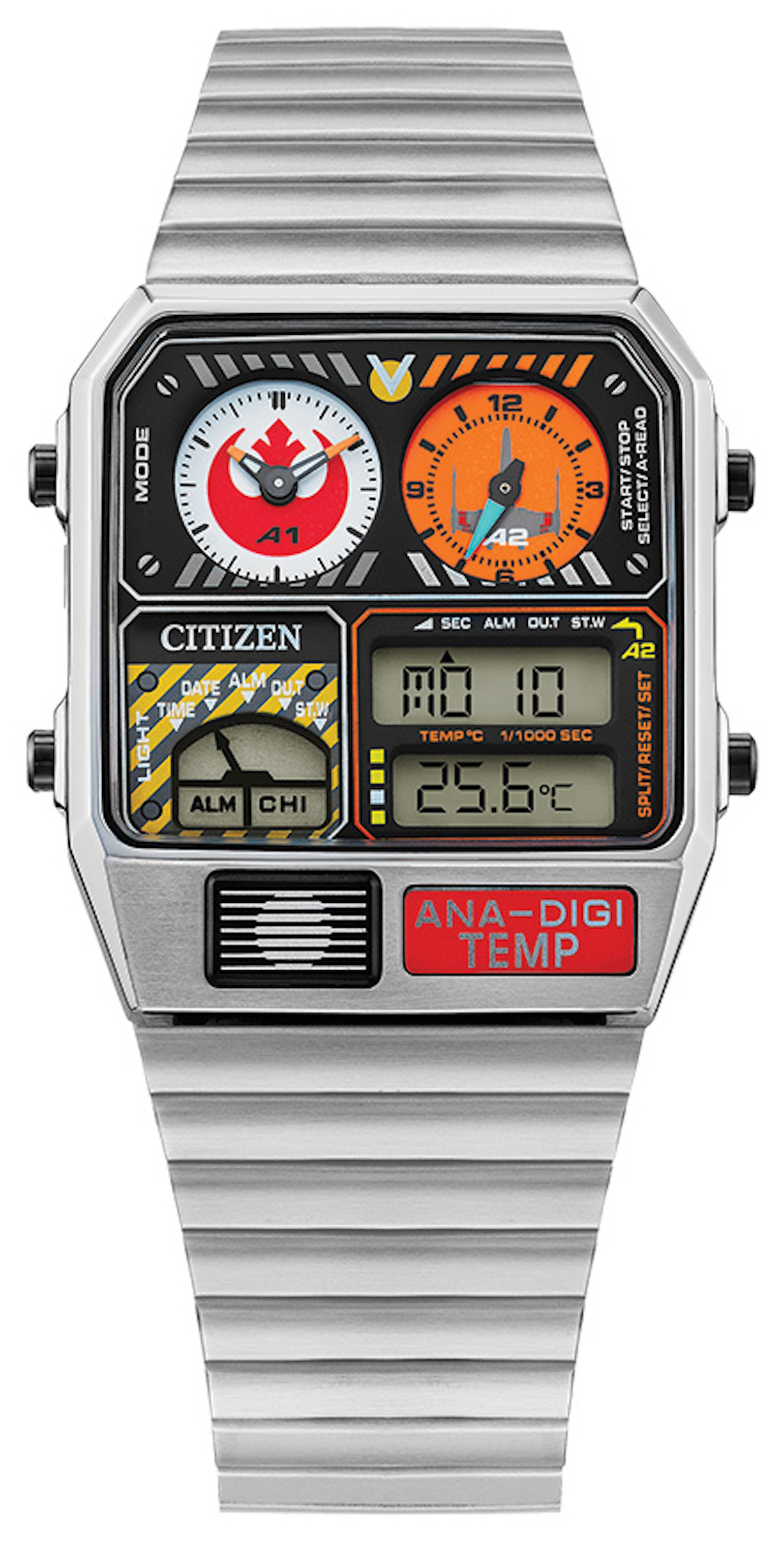 Citizen's Rebel Pilot watch honors Star Wars characters.