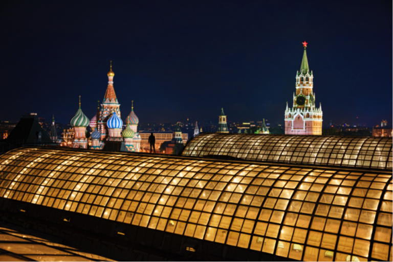 Red Square seen from the GUM rooftop. @Steve McCurry