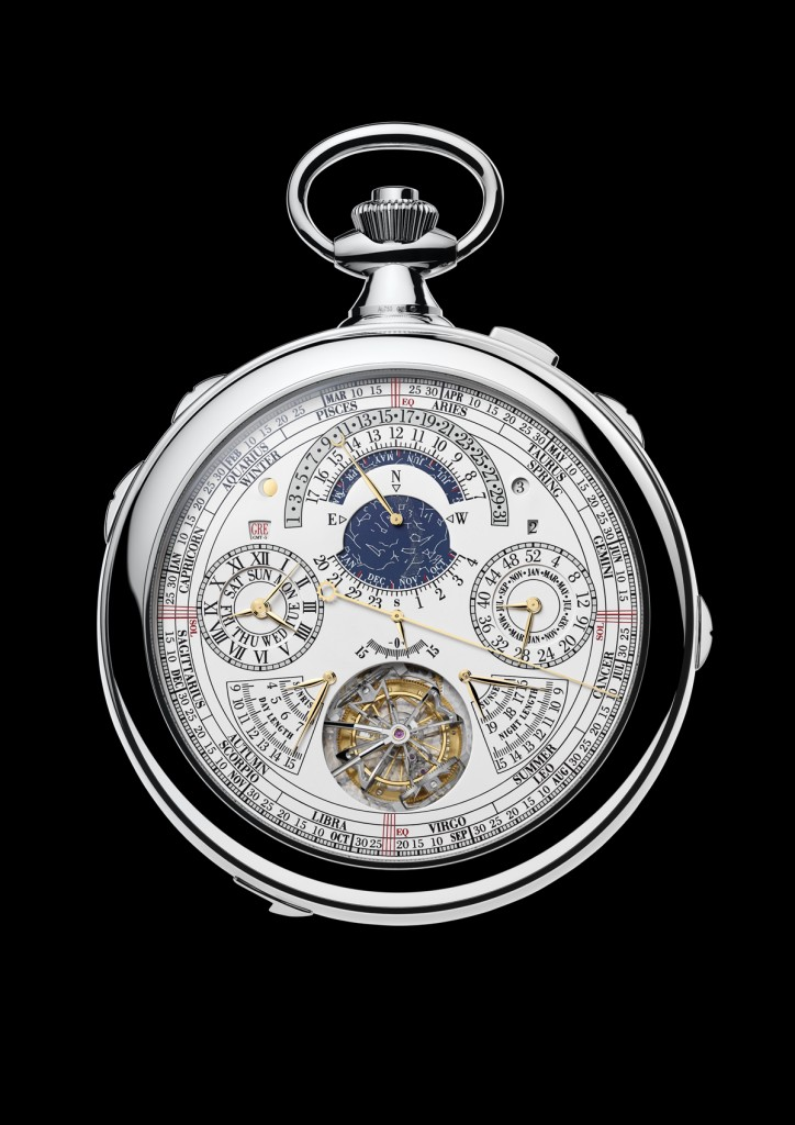 The reverse side of the Ref. 57260 with tourbillon, astronomical indications and calendar functions