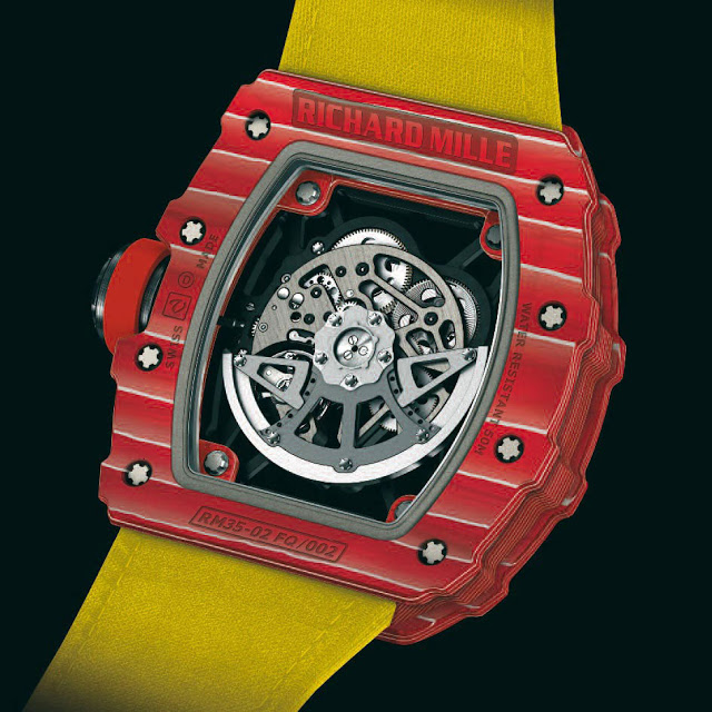 The automatic watch houses Mille's patented variable-geometry rotor.