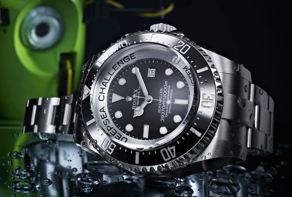 Rolex DeepSea Challenge watch that was on the arm of the DeepSea Challenger submersible, piloted by James Cameron.