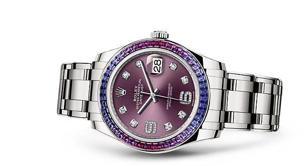 Rolex Pearlmaster with rubies and sapphires