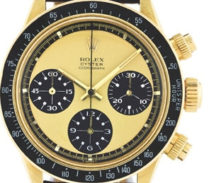 Antiquorum auction - Rolex Daytona Paul Newman with lemon yellow dial- may be a one of a kind.