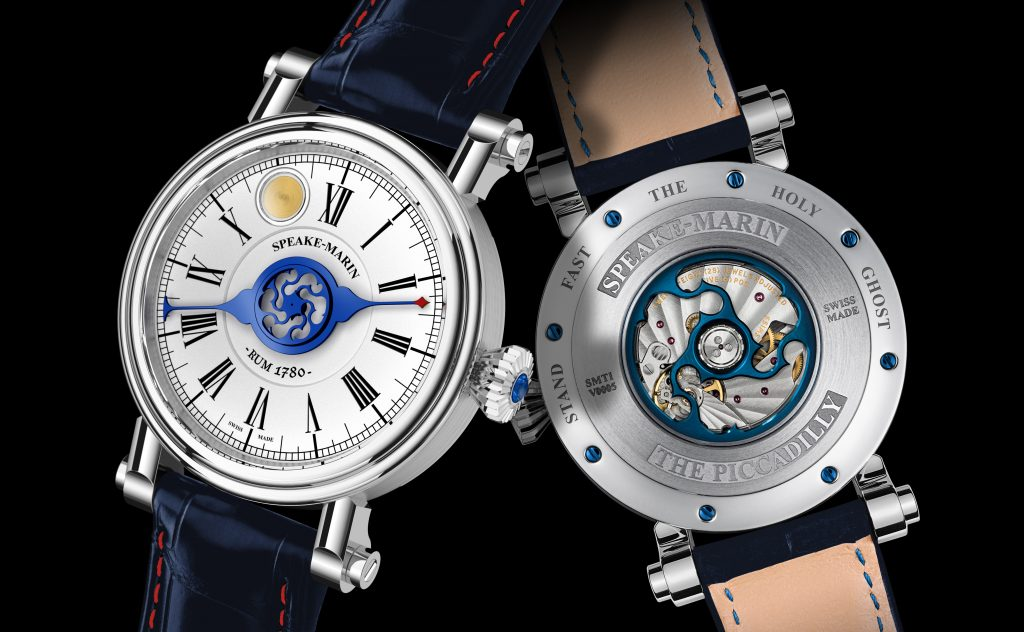 Peter Speake-Marin Rum Watch in titanium, with rare 1780 Harewood Rum in it.