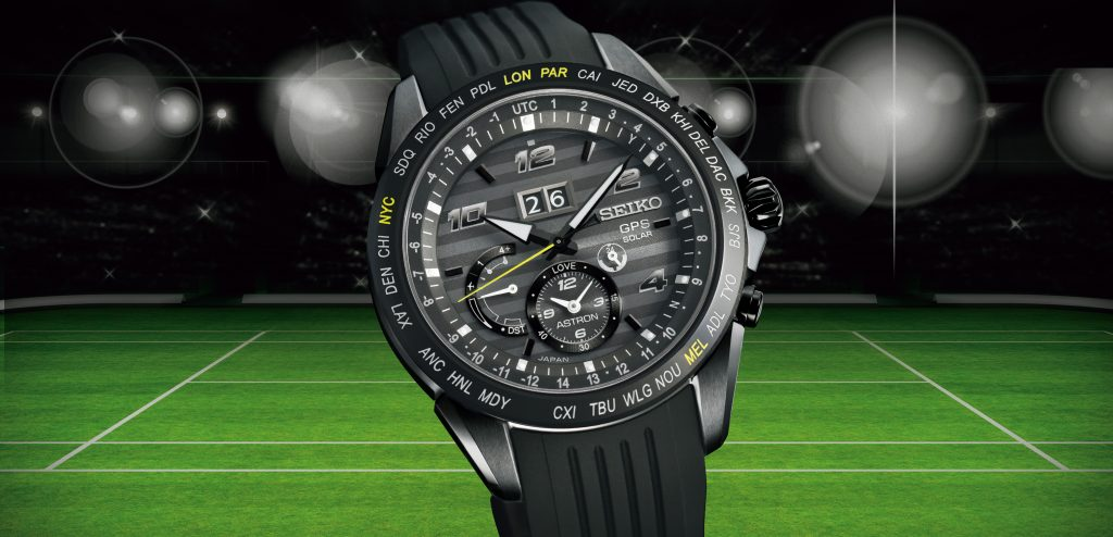 Novak Djokovic wears the Seiko Astron SSE 143, which he donned after his Grand Slam Victory at the Championships at Wimbledon.