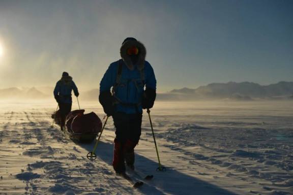 Ben Saunders and his teammate trekked 1800 miles pulling their own gear.