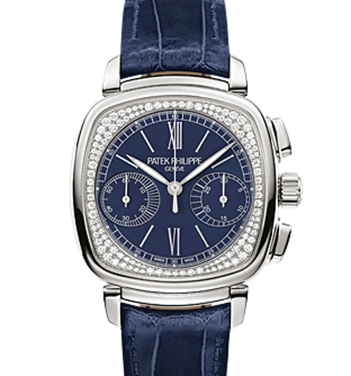 Patek Philippe Ref. 7071/G Ladies First Chronograph ($98,000) houses the annually wound chronograph caliber CH29-535PS.