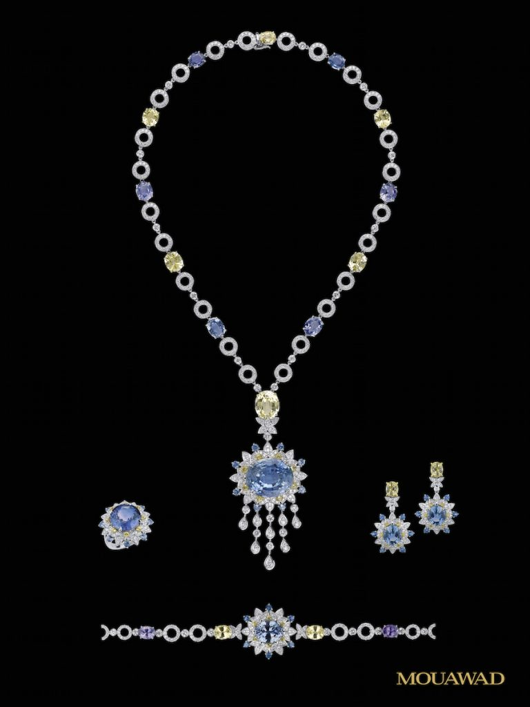 Mouawad Suite of diamonds and gemstones