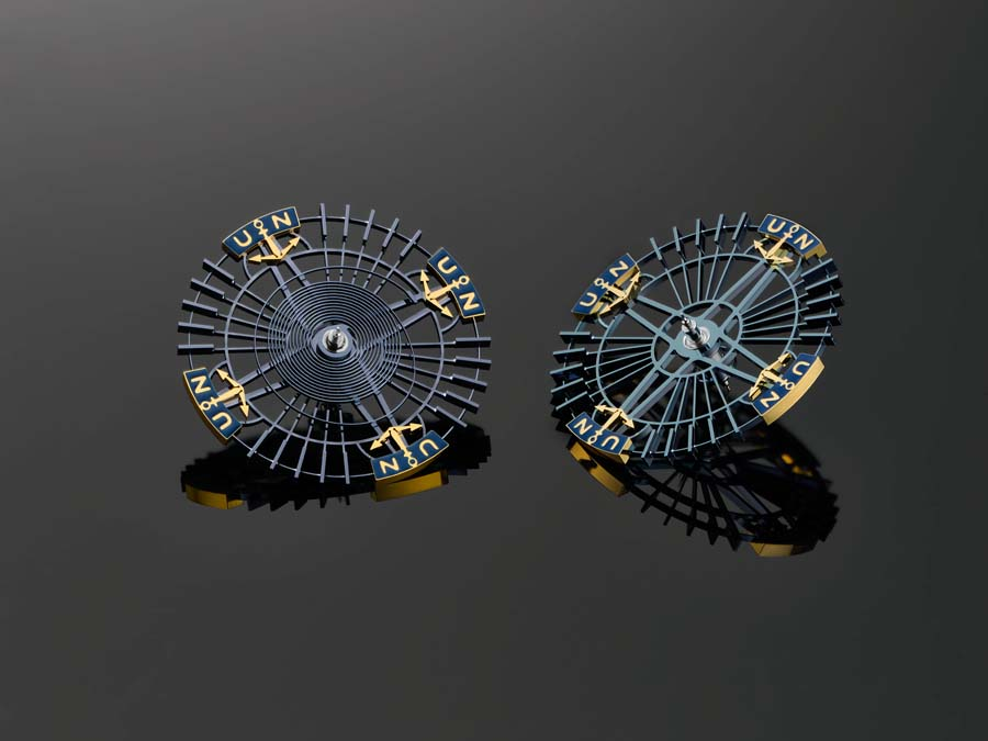 Silicium balance wheel, Ulysse Nardin Innovision 2.