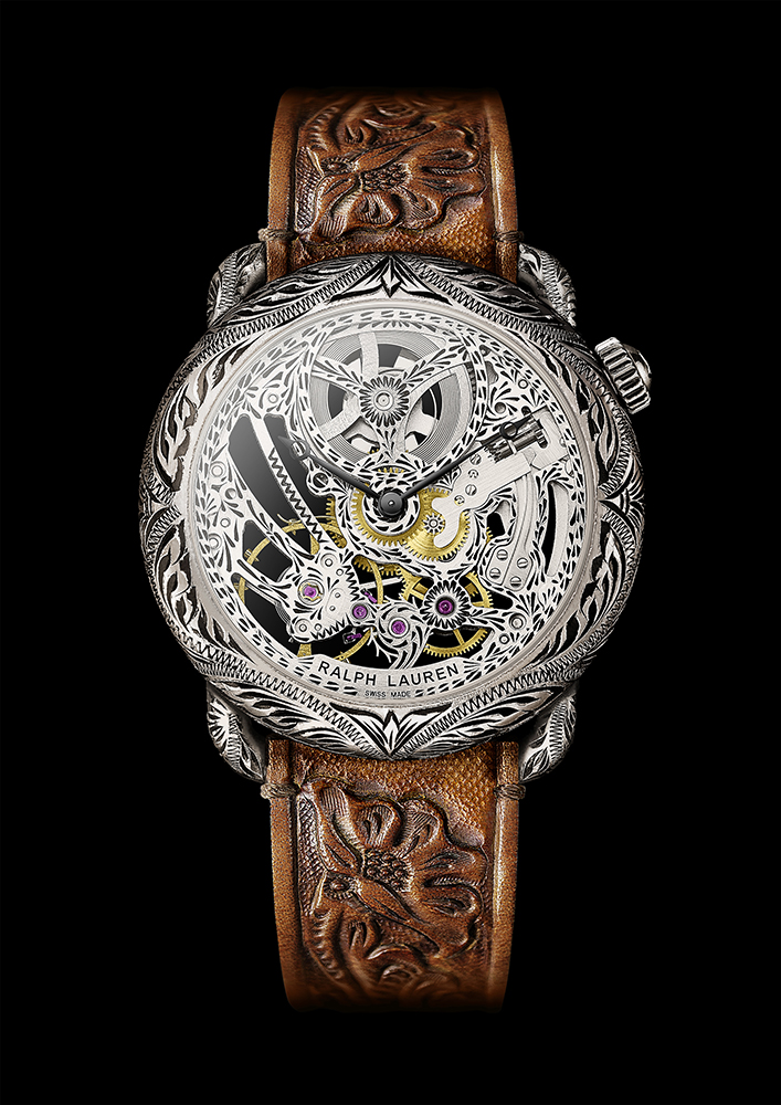 Ralph Lauren Western Collection round watch.