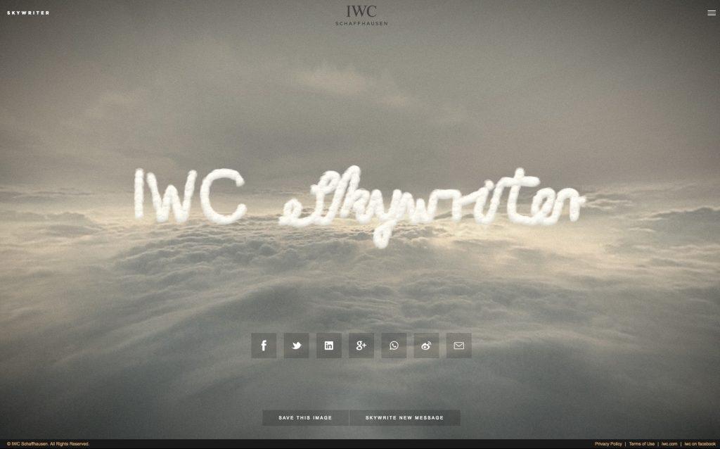 IWC's Skywriter program took six months to develop.