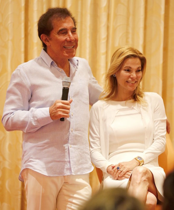 Steve Wynn and his wife at the CoutureTime breakfast (photo courtesy of CoutureTime management)
