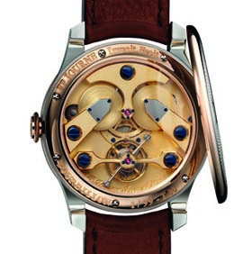 F.P. Journe movement of the new Anniversary Tourbillon wristwatch.