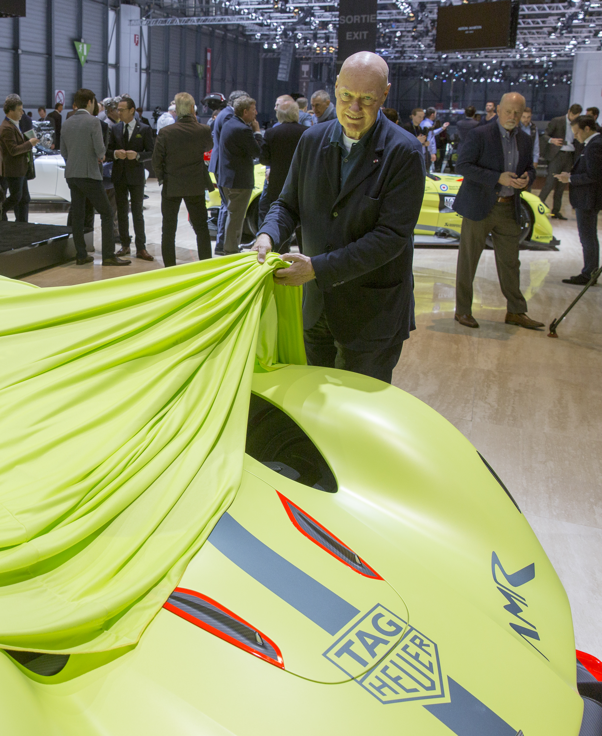 TAG Heuer's Jean-Claude Biver helps unveil Aston Martin partnership.