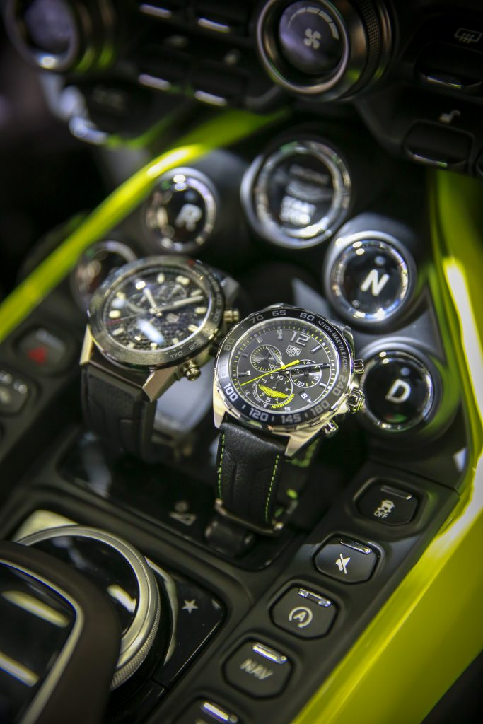 TAG Heuer Carrera Heuer 01 Aston Martin watch is designed to reflect the Aston Martin sports cars.