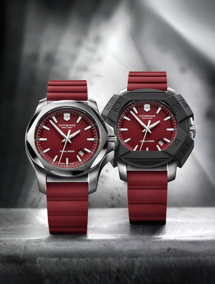 The I.N.O.X Red with and without the removable rubber bumper.