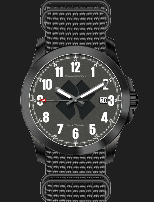 Minuteman watches, including the Team Rubicon watch, are assembled in the USA.