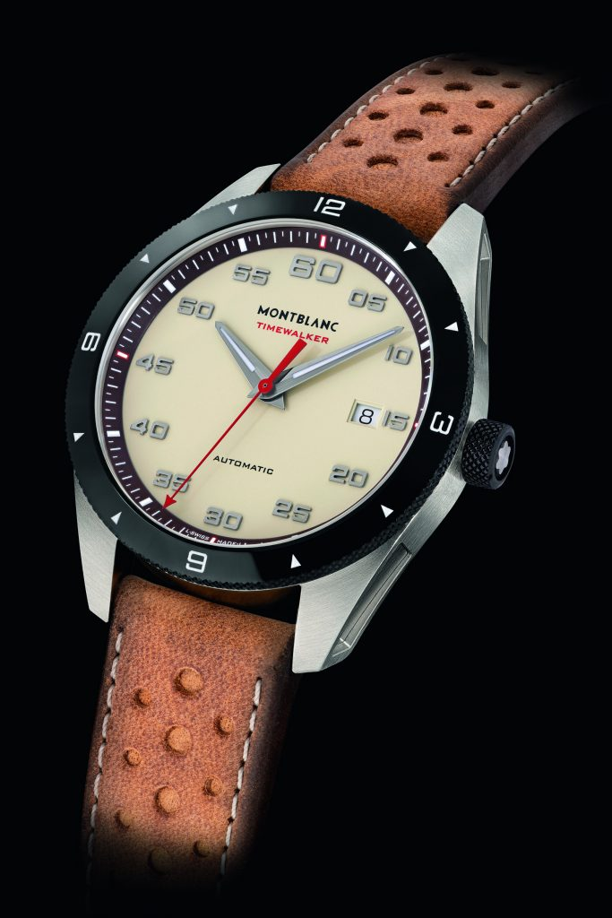 "The new Montblanc Timewalker ""cappuccino"" watches will be available for sale as of September."