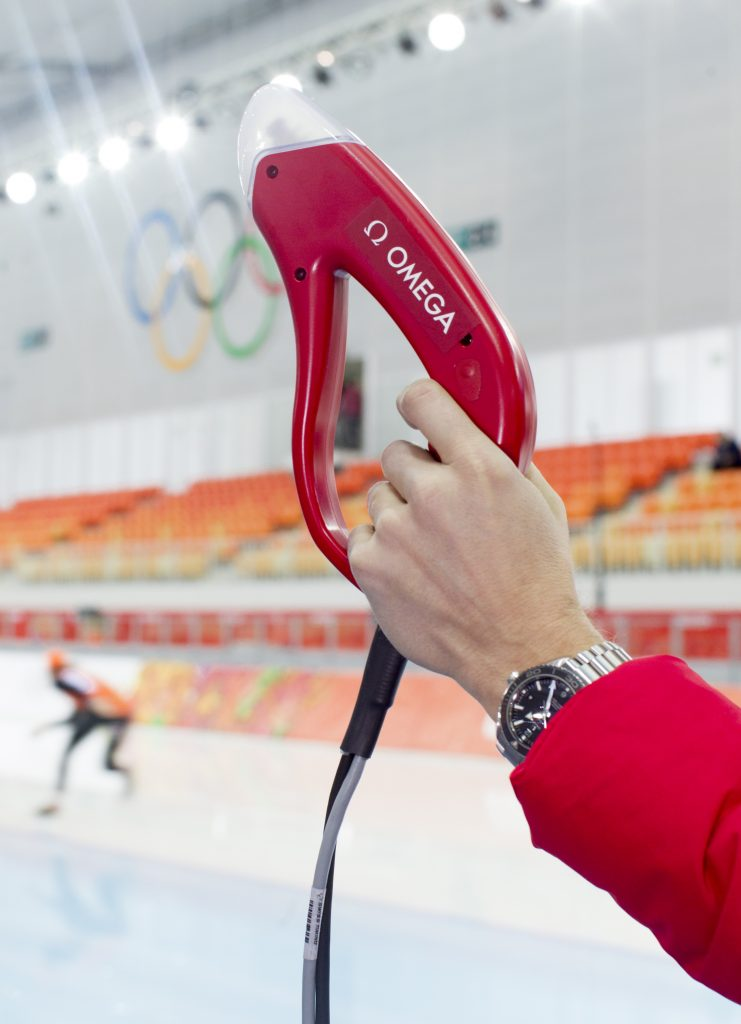 Omega technology ensures precision timing at the Winter Olympics.