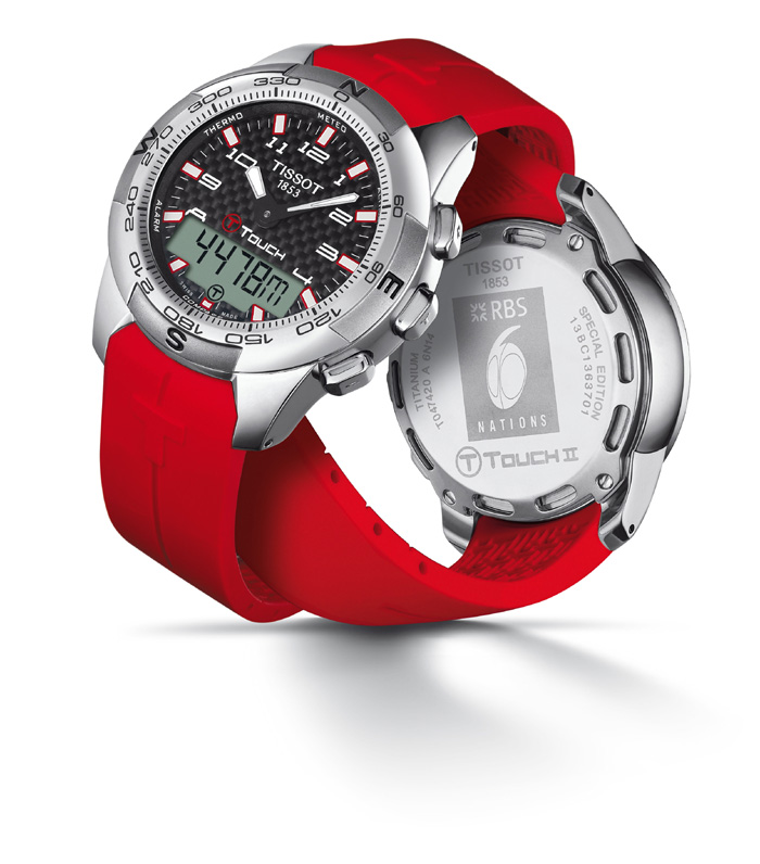 Tissot T-Touch Titanium RBS 6 Nations Special Edition 2014 celebrates Rugby and its determined players.