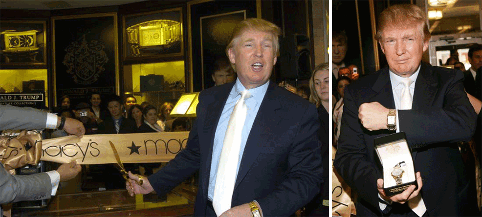 Donald J. Trump at the Unveiling of his Trump Signature Watch Collection at Macy's in 2006
