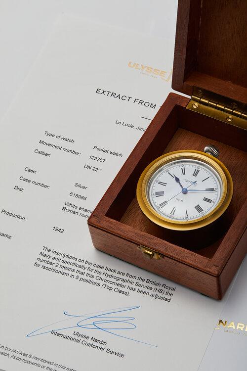 Ulysse Nardin marine chronometer, HSNY auction,