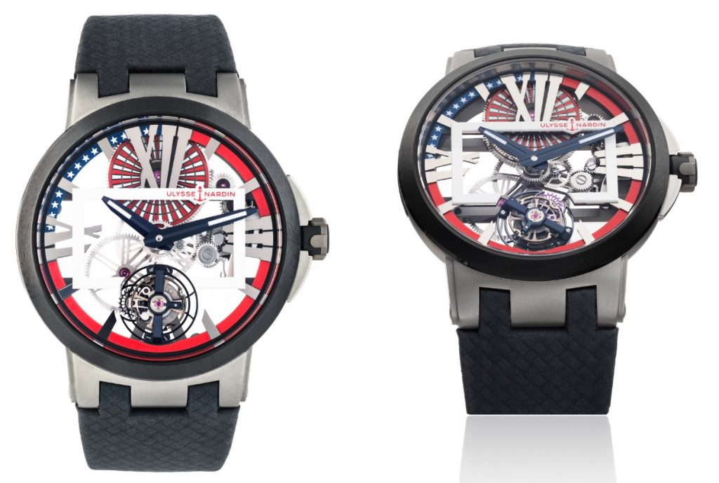 Ulysse Nardin Executive Skeleton Tourbillon Stars & Stripes watch