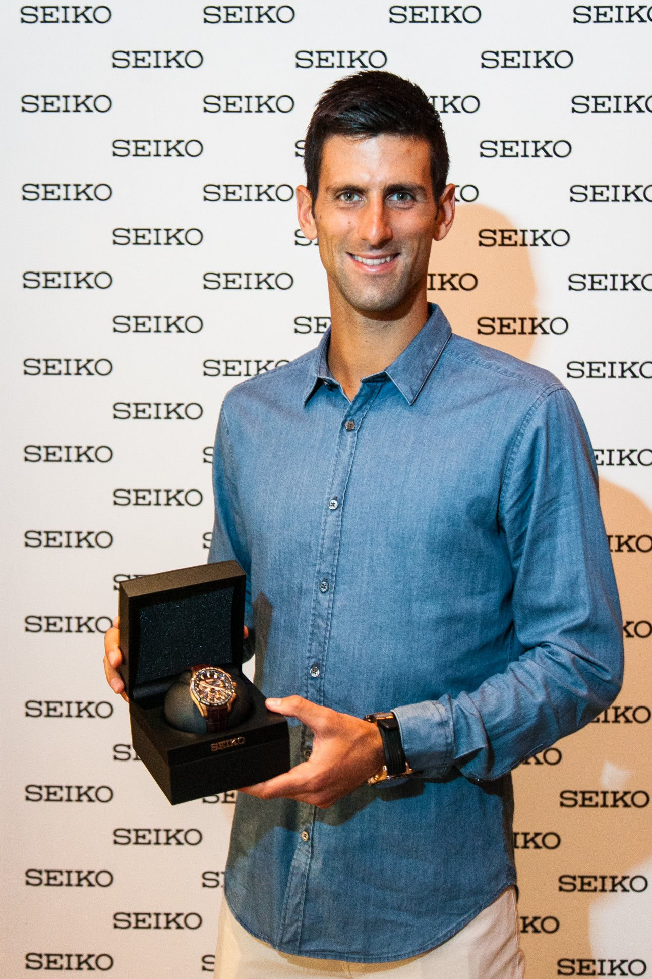 Novak with his Seiko Astron GPS Solar
