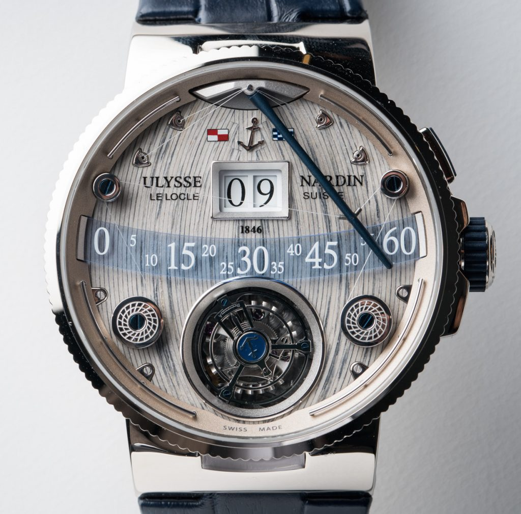 Ulysse Nardin Grand Deck Tourbillon with patented time-telling system