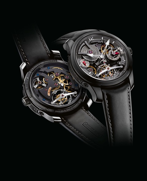 Greubel Forsey Double Tourbillon Technique in Black Titanium.
