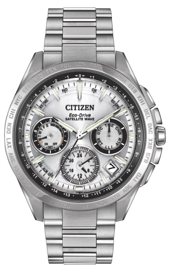Citizen's Eco-Drive Satellite Wave F900 in white.