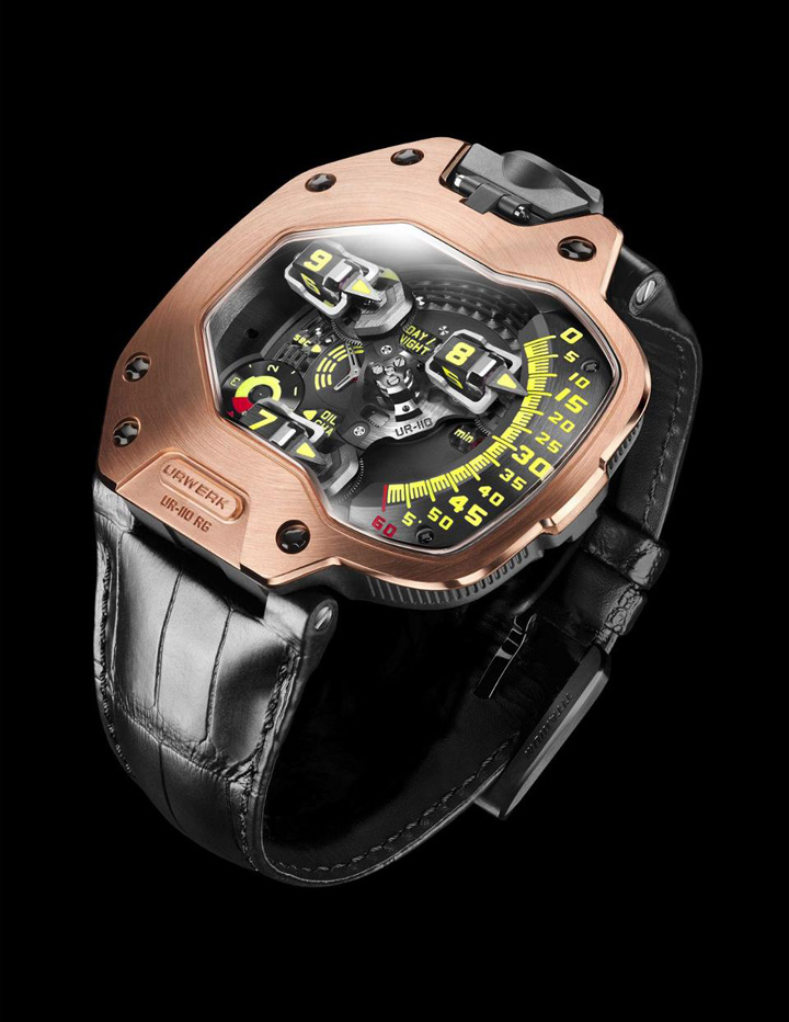 Urwerk UR-110RG watch worn by Robert Downey Jr., Ironman.