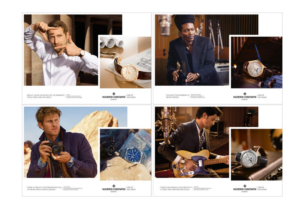 Vacheron Constantin 'One of Not Many' campaign.