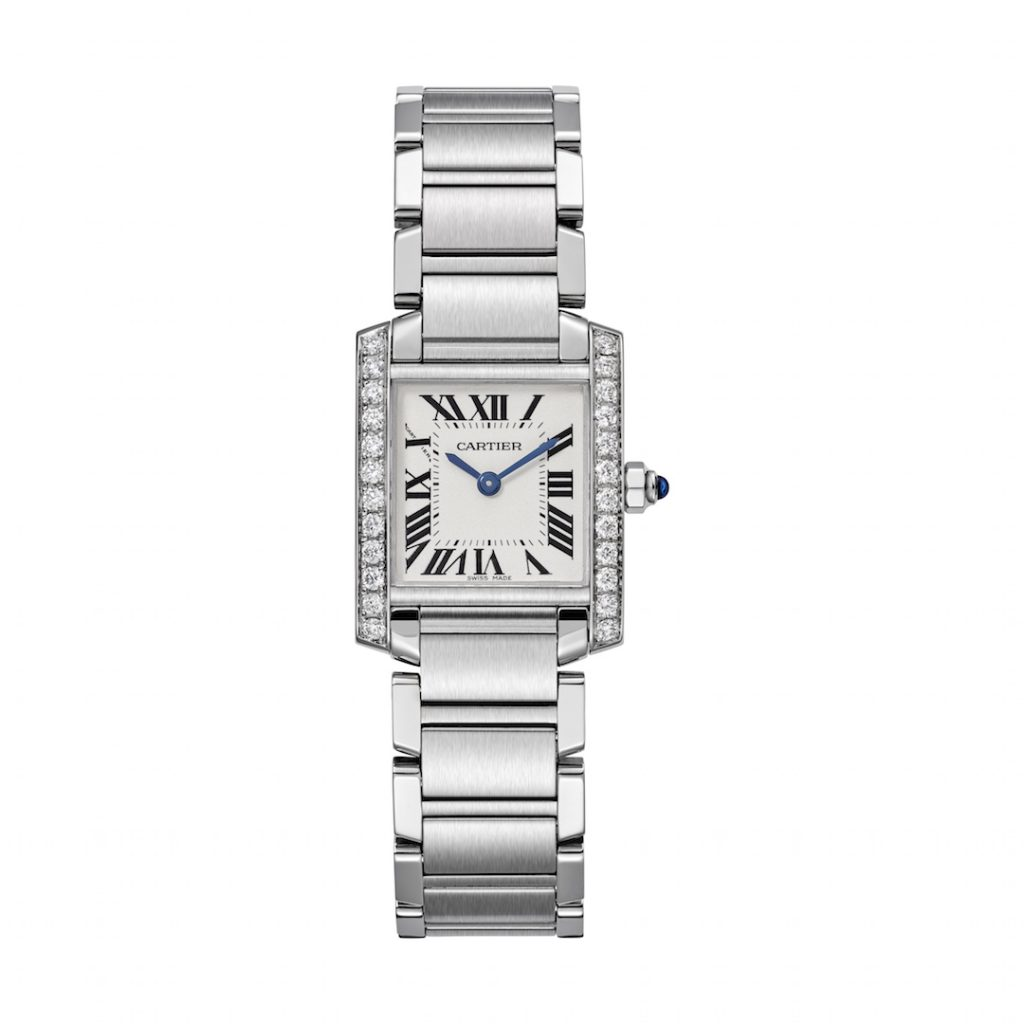 The 100th anniversary of the Cartier Tank also marks the first time the brand is releasing the Tank Francaise in steel with diamonds.
