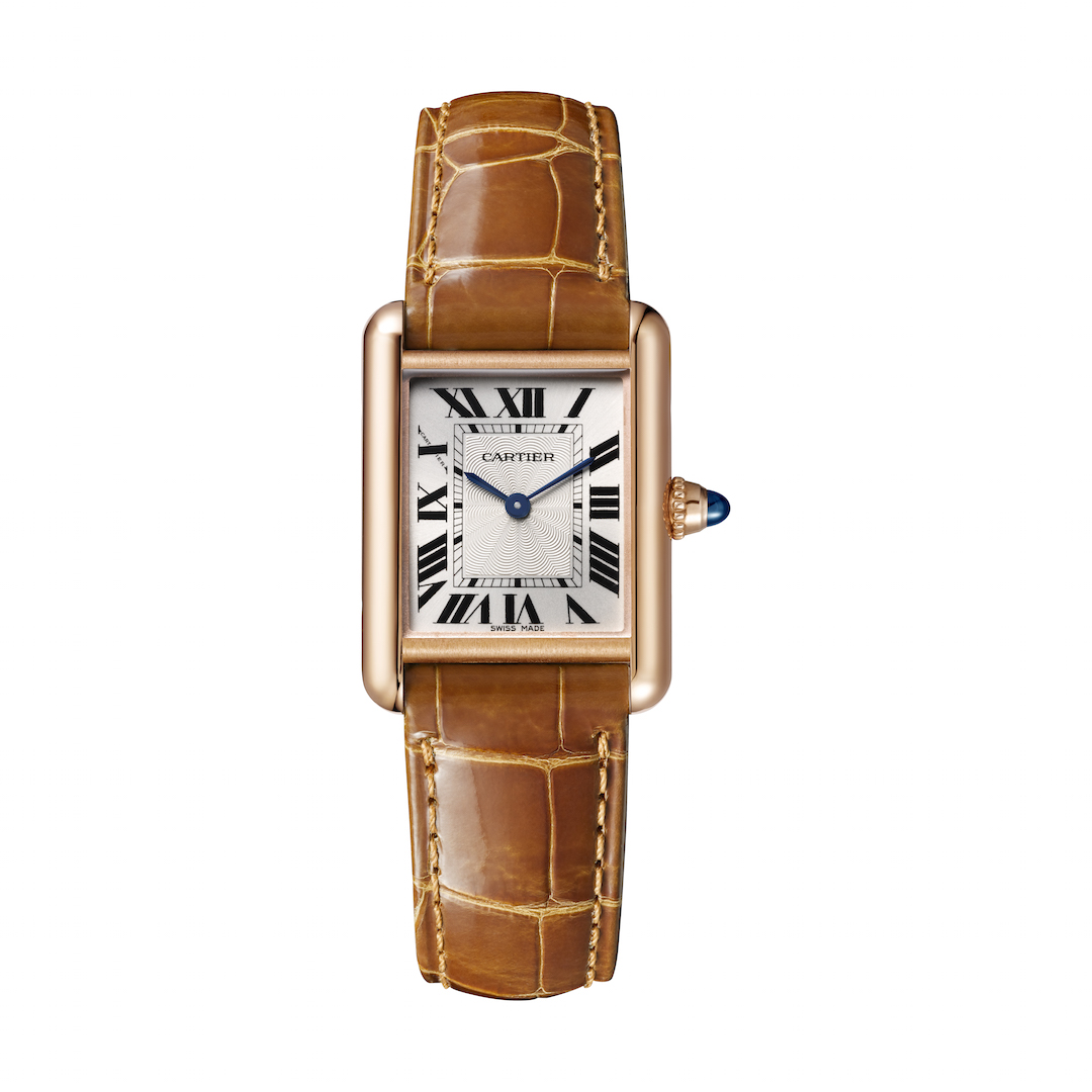 Cartier celebrates 100 years of the Tank with new watches, including this Tank Louis Cartier, small model, pink gold. Mechanical movement with manual winding - 8971 MC.