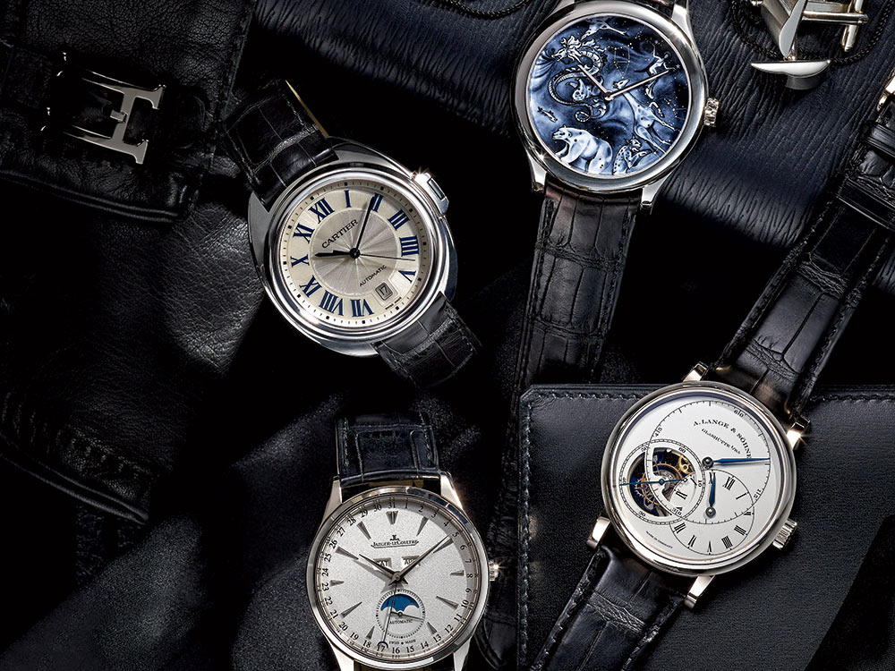 Four Fantastic Men's watches (image by Jeff Crawford for Niche Media, styled by Terry Lewis)