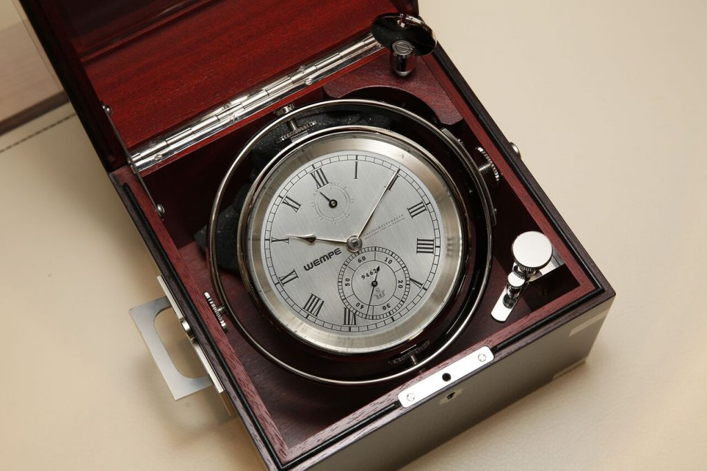 Wempe ship's chronometer/barometer will accompany Kopar on the Golden Globe Race.
