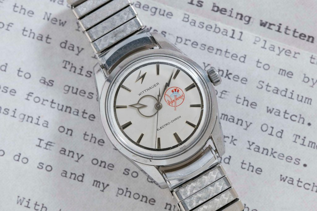 "Wittnauer Electro-Chron Watch once belonging to ""Rowdy"" Bartell, MLB shortstop, sells for $10,000 on Analog/Shift auction."