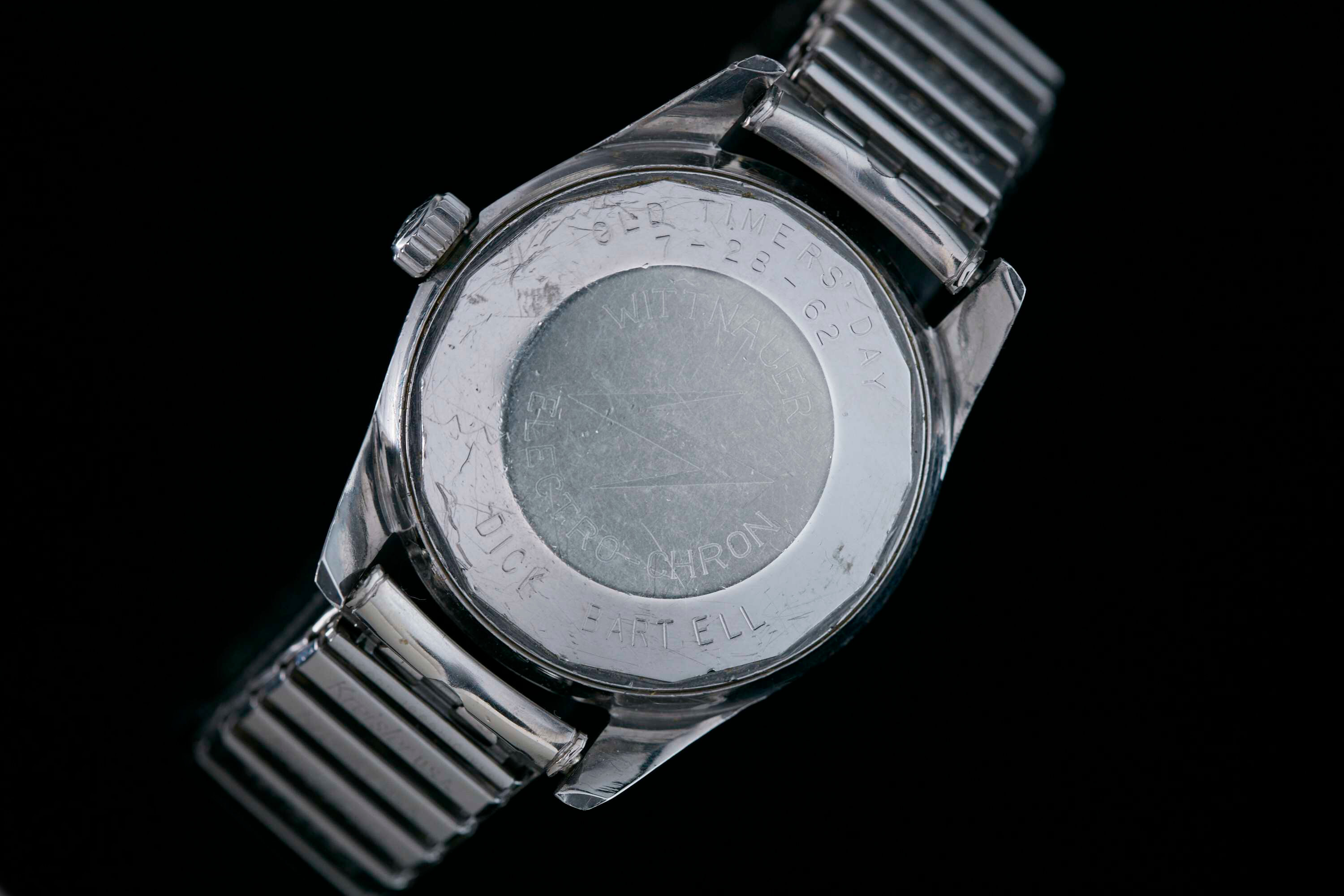 The case back of the watch has Bartell's name on it. Former Mayor Rudy Giuliani donated the piece for auction