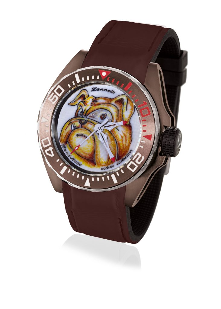 Zannetti's Year of the Dog watch offers a playful take on the astrological sign.