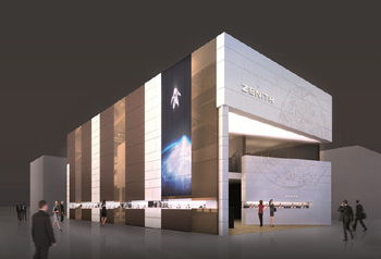 Concept for the new Zenith Booth