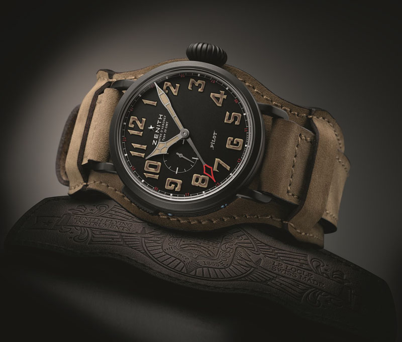 Zenith Pilot GMT 1903 tribute to the Wright Brothers.