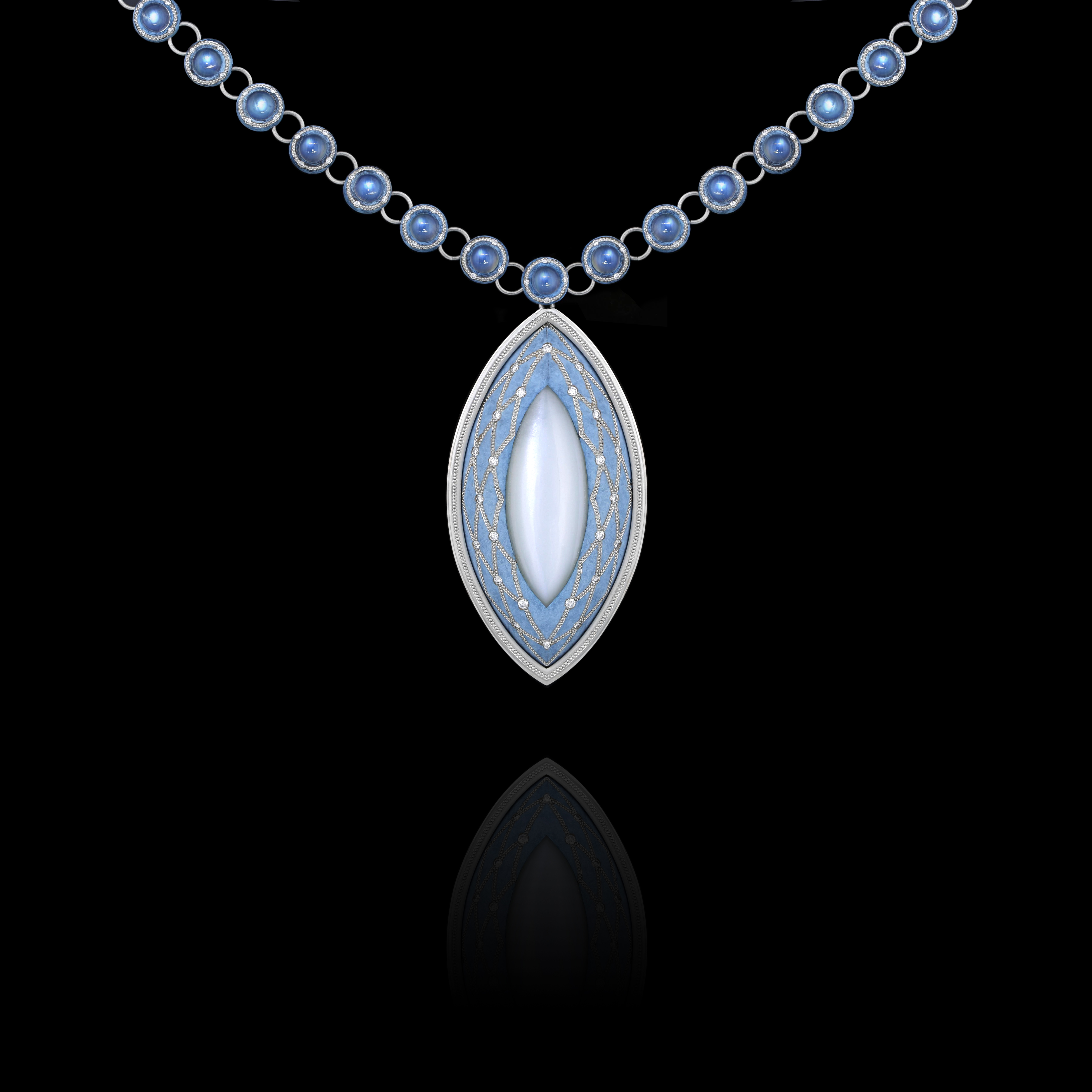 The value of the Zoltan Davis Iris Pendant is about $56,000.