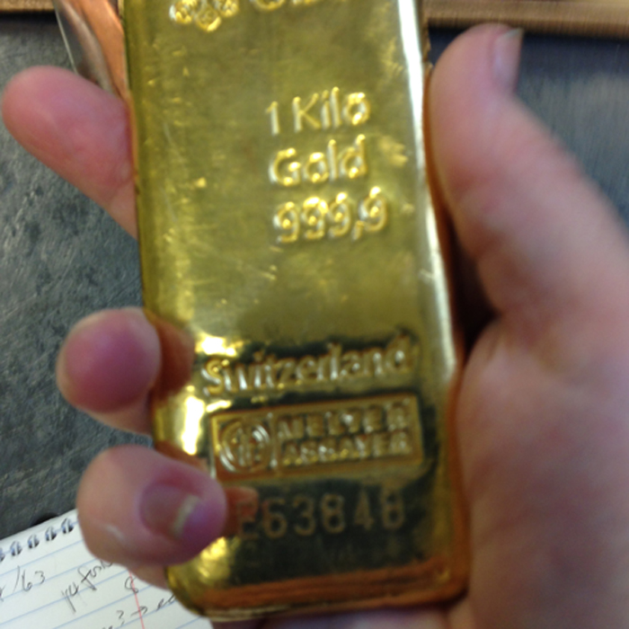 one kilo 999.9 gold bar