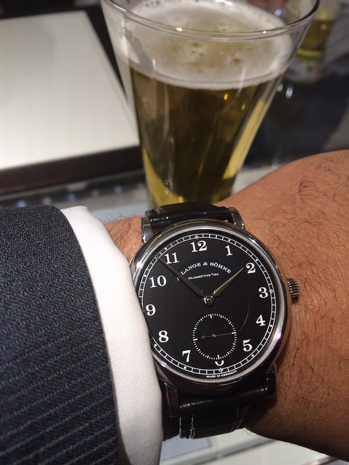 A. Lange & Sohne 1815 Anniversary F.A. Lange watch in platinum
