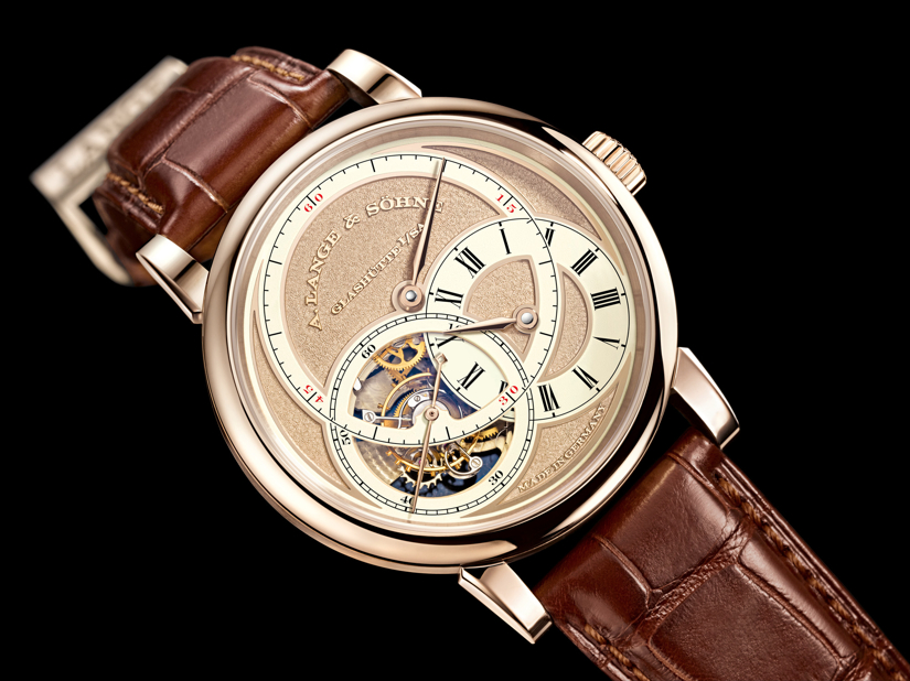 The first A. Lange & Sohne Handwekskunst (2011) Richard Lange Pour le Merite in honey gold